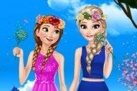 Anna und Elsa Frühlingsmode