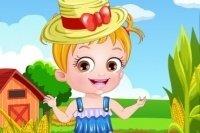 Baby Hazel als Bäuerin