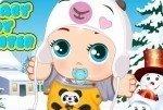 Baby im Winter