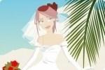Braut am Sandstrand