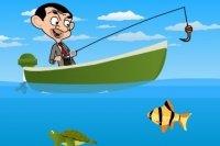 Mr Bean beim Fischen
