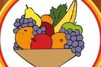 Obst ausmalen