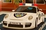 Polizeiauto einparken