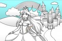 Schloss und Prinzessin Anmalen