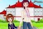 Schulweg mit Mama