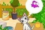 Süsse hungrige Katze