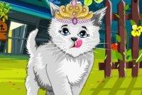 Süßes Kätzchen Ankleiden
