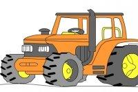 Traktor zeichnen