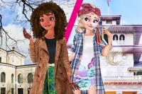 Elsa und Moana Austauschschüler