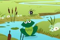 Füttere den Frosch