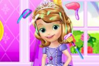 Kleine Prinzessin Haarbehandlung