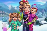 Zwillinge im Skiurlaub